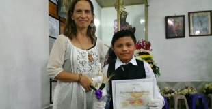 Diane's student with Diploma